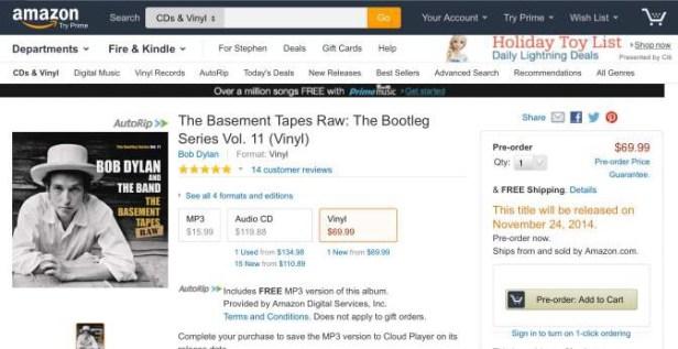Bob Dylan Basement Tapes Vinyl Due Nov 24 – NJN Network