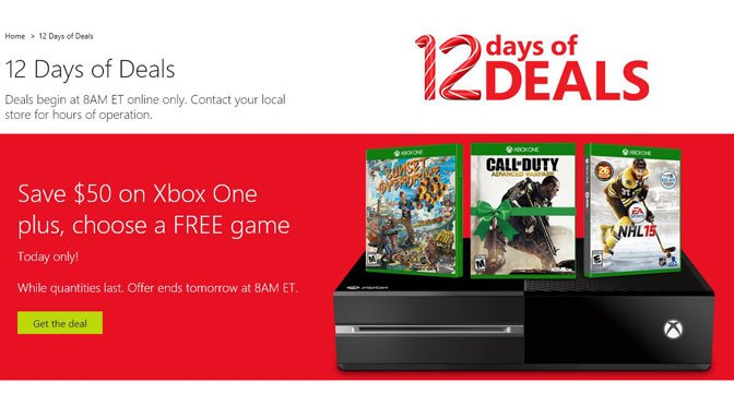 Microsoft Xbox One $100 off