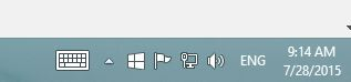 Windows 10 Toolbar upgrade icon