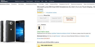 Amazon in Germany pulls Lumia 950 and 950 XL