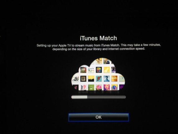 iTunes Match on Apple TV (illustration everythingCafe.com)