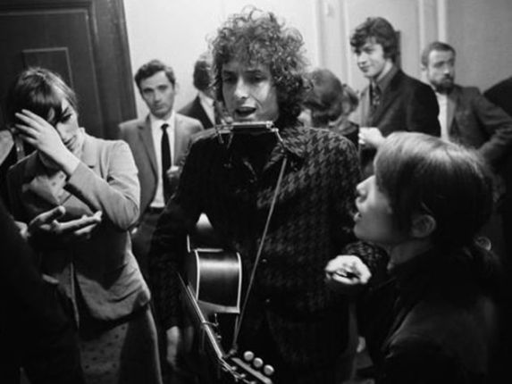 Bob Dylan backstage 1966 World Tour