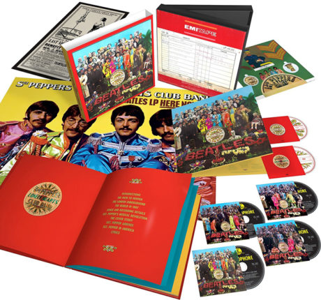 What S Inside 4 Editions Of The Beatles Sgt Peppers 50th