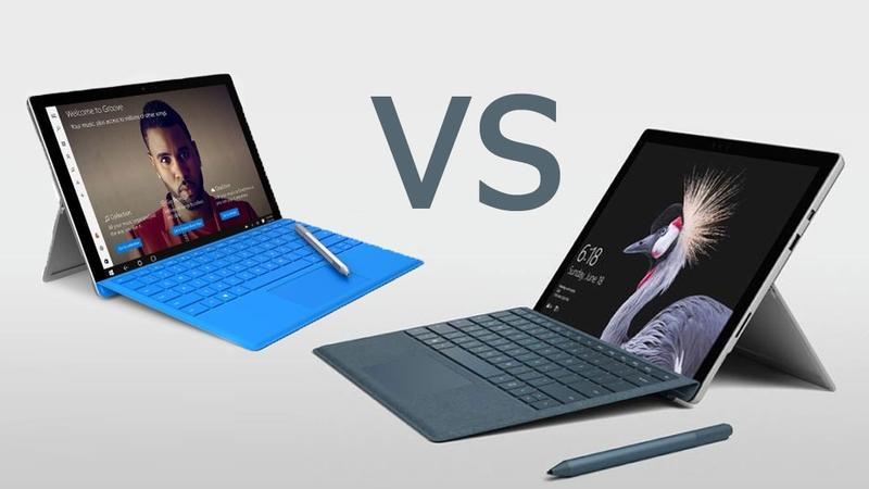 Surface Pro 4 vs Surface Pro 2017 (illustration Tech Advisor IDG)