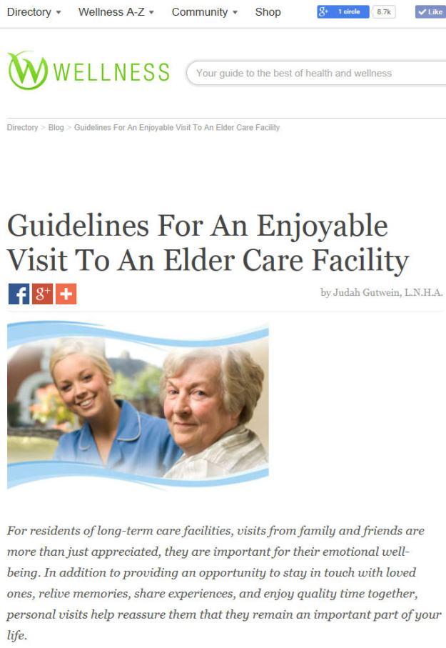 new wellness article