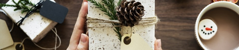 winter-themed holiday gift box
