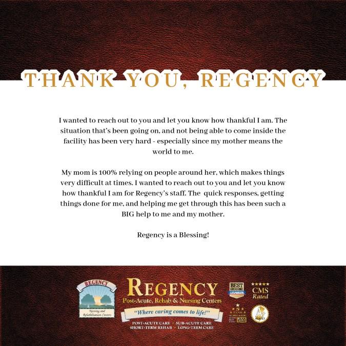 Stunning Review for Regency Gardens Nursing and Rehab, Wayne, NJ