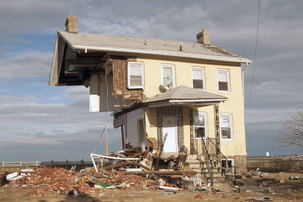 Home destroyed by Sandy