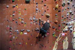 Alex Cobb of Maple Shade warms up before Sunday's lead climbing clinic at Elite Climbing in Maple Shade.
