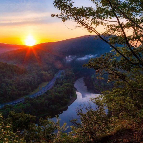 Mount Minsi Sunrise in Pennsylvania