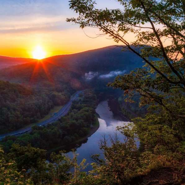 Mount Minsi Sunrise in Pennsylvania