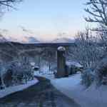 Winter Barn road