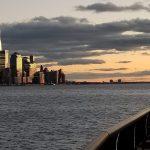 Big City Reflecting New Jersey Sunset