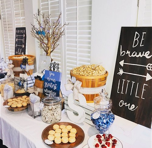 Rustic treat buffet