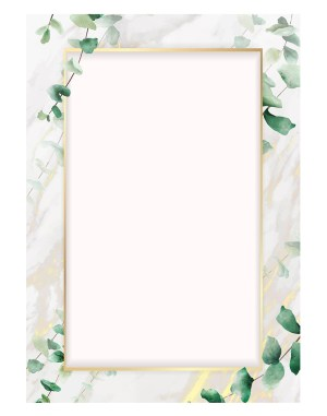 eucalyptus-leaf-with-rectangle-gold-welcome-board
