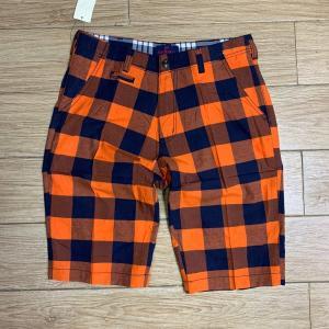 mens-summer-shorts-with-orange-stripes