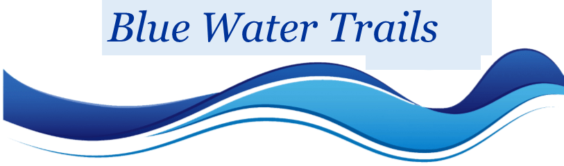 Blue water trails logo