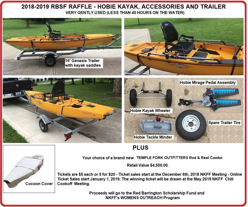 2018-2019 Winter RBSF Raffle Prize – Hobie Mirage Pro Angler 14, Accessories & Trailer PLUS A Superb TFO Fly Fishing Outfit