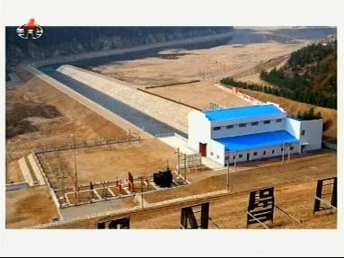 The recently finished power plant in Jonpyong County (Photo: KCTV)