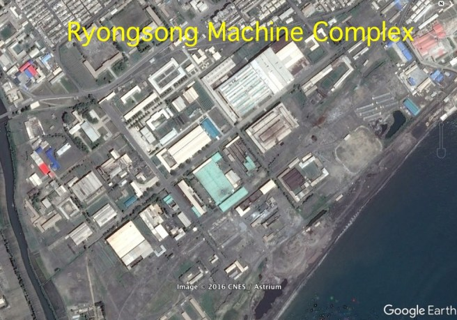 Ryongsong Machine Complex (Photo: Google image).