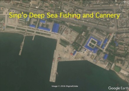 Sin'po Distant-Sea Fisher Complex and Sinp'o Canned Fish Factory (Photo: Google image).