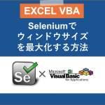 VBAのSeleniumでウィンドウサイズを最大化する方法