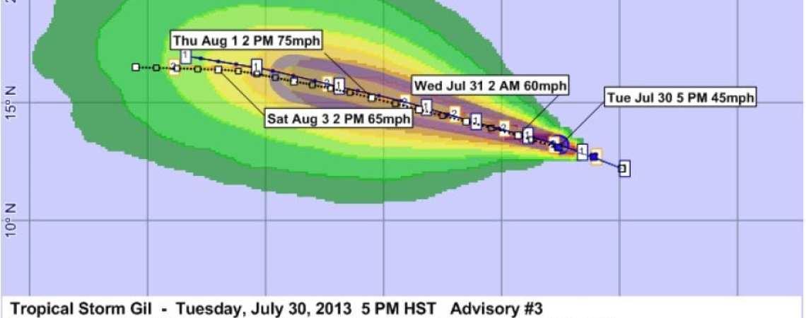 Tropical Storm Gil Advisory 3