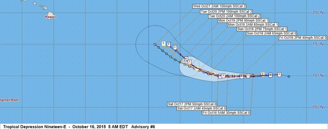Tropical Depression Nineteen-E Advisory #6