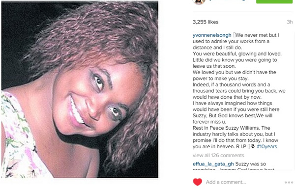 Yvonne Nelson -Suzzy Willams