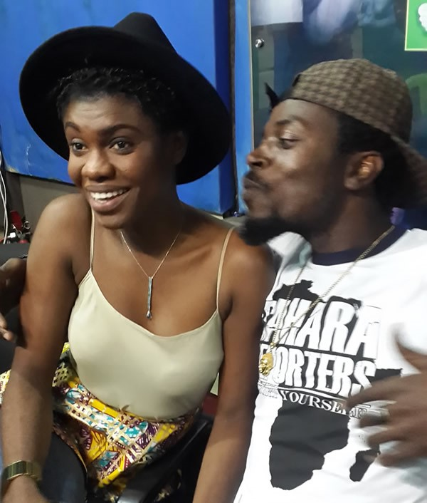 Kwaw Kese trying to Kiss Becca