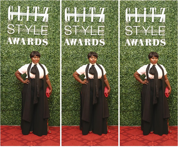 Lydia Forson on the red carpet at Glitz Fashion Awards 2015