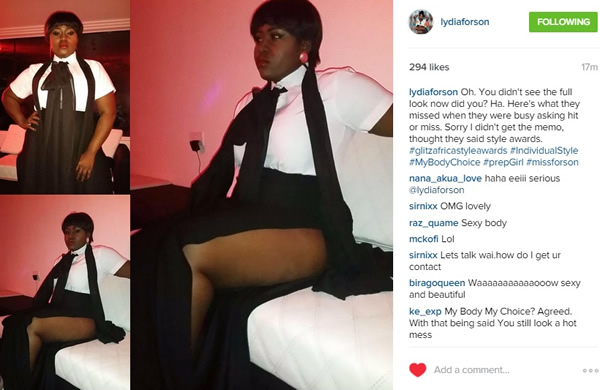 Lydia Forson shows her thighs on Instagram
