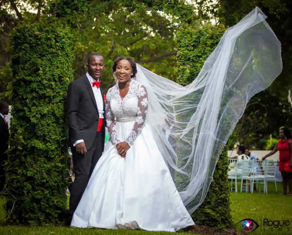 Naa Ashorkor and husband on their wedding day