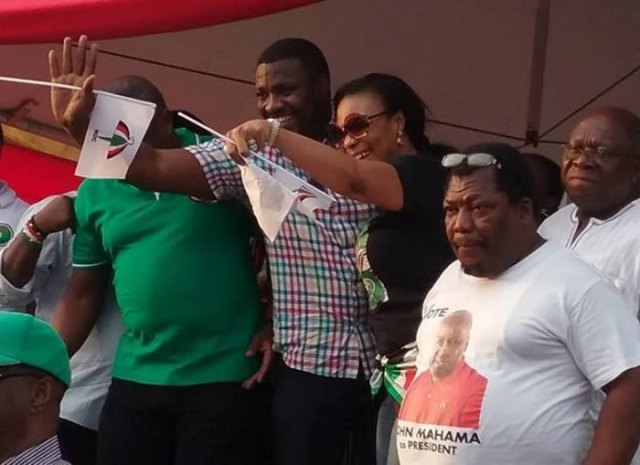 Dumelo, Selaasie Ibrahim and Papa Nii at the rally