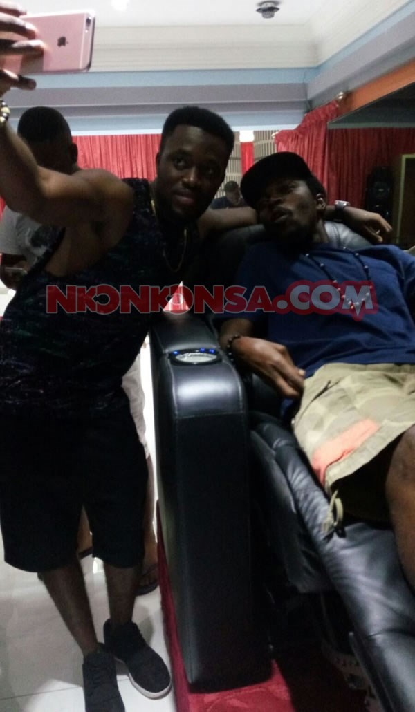 Kennedy with Kwaw in Despite mansion