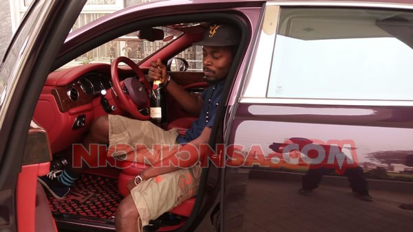 Kwaw Kese in Despite car