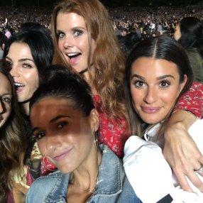 Lea Michele at nktob concert total package tour JoAnna Garcia Jenna Dewan Tatum Stacy Keibler