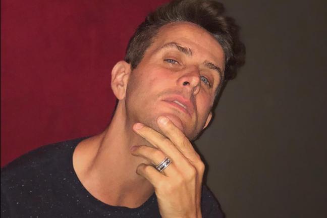 Joey McIntyre in the studio working on new music