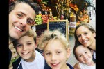 Joey McIntyre and his family in New York City