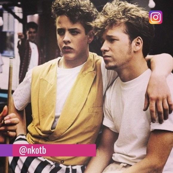 Joey Mcintyre and Donnie Wahlberg, CIRCA 1990