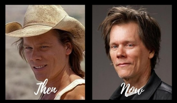Kevin Bacon then and now