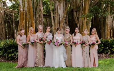 Bold Floral Inspired Ca'd'Zan Wedding