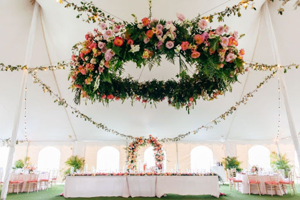Floral Decor for Tent Wedding