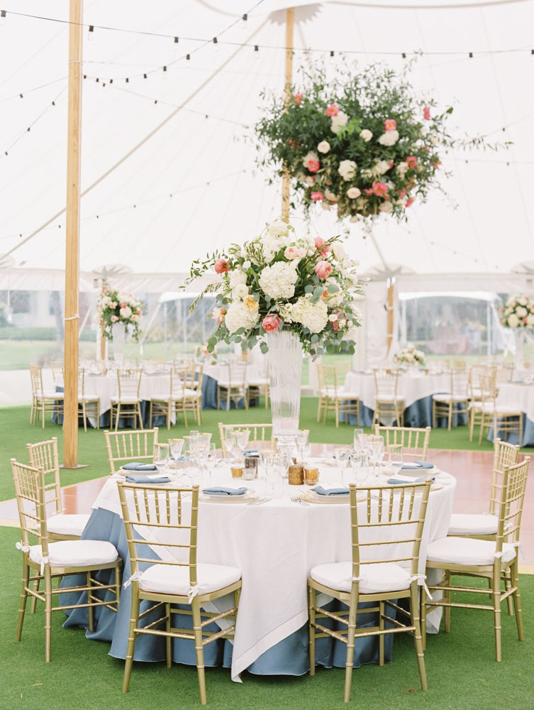 Light and Airy Decor for Tent Wedding