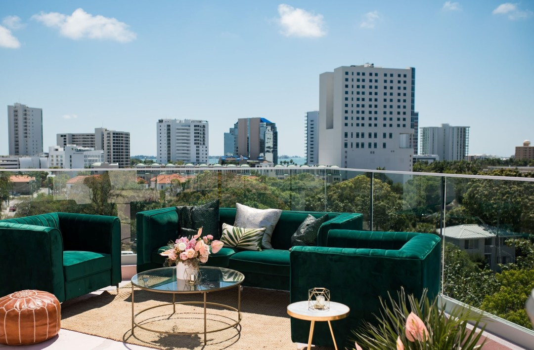 Rooftop casual seating