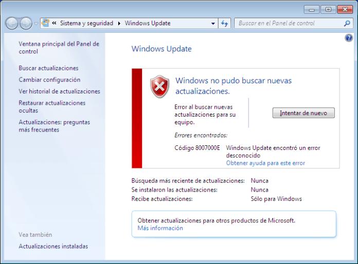 update-error
