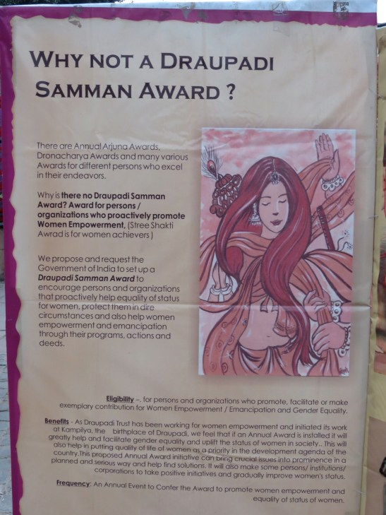 Some argue for a Draupadi award, in order to promote women's amancipation