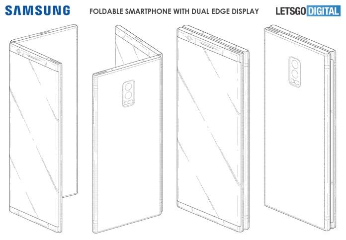 Складной двойной дисплей смартфона