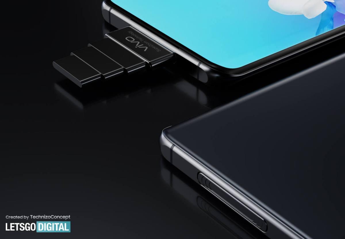 Всплывающая камера смартфона Vivo