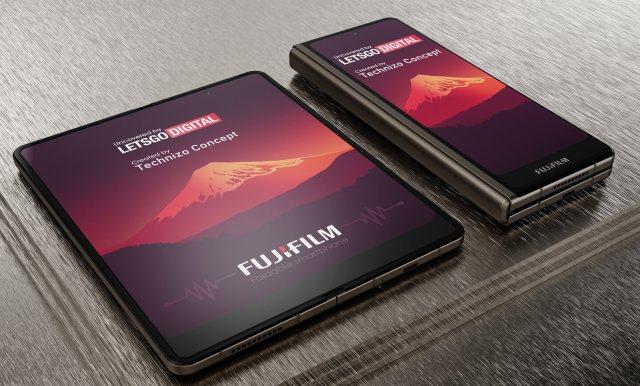 富士折疊手機